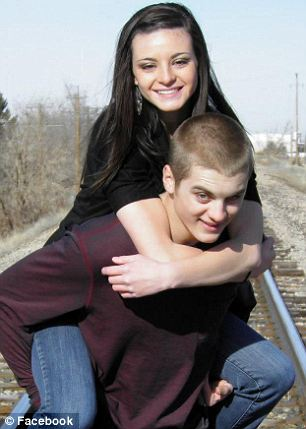 Bre Halowell with her longtime boyfriend McQuen Forbush, 18, who died this weekend from carbon monoxide poisoning.