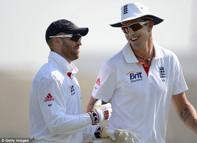 Confident: Matt Prior (left) is sure England will have enough to overcome India with or without Finn