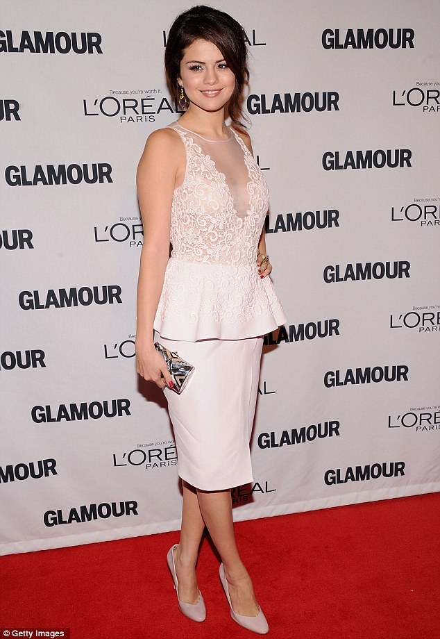 Flawless: Selena certainly stood out on the red-carpet in her sophisticated ensemble