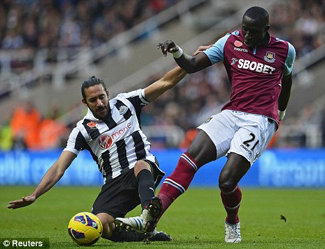 Under the Hammer: Everton and Newcastle are both interested in Diame