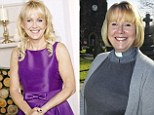 Looking heavenly! Female vicar swaps dog collar for party dress after losing 21lbs and winning makeover in slimming magazine