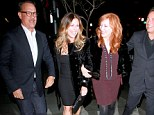 Party of four! Tom Hanks and Rita Wilson have a ball as they join Bruce Springsteen and his wife Patti on a double date
