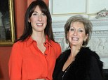 Inspired: Samantha Cameron expressed her awe at Shelley¿s dedication