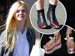 From Geisha to cowgirl: Elle Fanning goes back down to earth in boots after Prada platforms