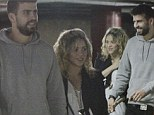 Just the two of us! Pregnant Shakira enjoys a date night with boyfriend Gerard Piqué as they eagerly await the arrival of their first child