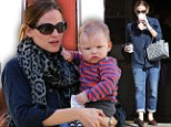 No wonder she needs caffeine! Jennifer Garner spotted double fisting at coffee shop before outing with baby Samuel