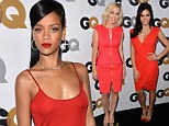 Seeing red: Rihanna, Jennie Garth and Jenna Dewan looks ravishing in ruby at the GQ Men Of The Year Awards