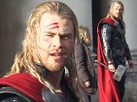 Are you Thor you're alright? Chris Hemsworth is seen bloodied and bruised on set of superhero sequel