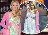 Well it is a sweet outfit! Pregnant Holly Madison is radiant at candy store opening... in same ensemble she wore two days earlier