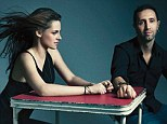 Secret weapon: Kristen Stewart and hairstylist Adir Abergel photographed at the Four Seasons in Beverly Hills