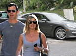 Who says money can't buy you love? Jennifer Aniston hands over the keys to her more than $100,000 Porsche to fiance Justin Theroux
