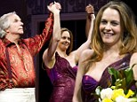 Alicia Silverstone steals the spotlight in a stunning strapless gown at the opening of new Broadway show