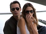 All abroad the love boat: Marc Anthony and Shannon De Lima cruises around Miami, Florida