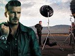He's honed the Blue Steel look: David Beckham shows off his smouldering stare for Breitling photoshoot