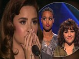 Every X Factor judge's nightmare: Demi Lovato forced to choose between two of her acts after Paige and Jennel sing for survival