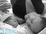 Tamera Mowry reveals first picture of newborn baby boy Aden... as mother and son snuggle up together in cute snap