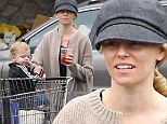 Mom on the run: Hunger Games actress Elizabeth Banks, who announced the birth of her second child this week, picked up supplies from her local Whole Foods in LA with her son Felix