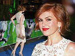 Short and sweet! Isla Fisher shows off elegant up 'do as she walks the red carpet at The Rise of The Guardians premiere