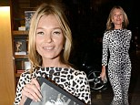 It's bound to be a roaring success! Kate Moss steps out to sign copies of her new book in tight leopard print dress