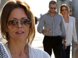 'Feeling great and full of love': Dancing With The Stars host Brooke Burke steps out with husband David Charvet days after revealing cancer battle