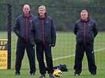 Watching brief: Arsene Wenger will lead his Arsenal side against Tottenham at the Emirates