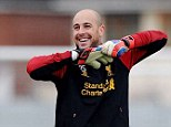 Close eye: Liverpool boss Brendan Rodgers and Pepe Reina