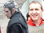 Christopher Eccleston looks a far cry from his usual self in gruesome costume on set of new Thor movie
