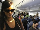 Welcome abroad Air Rihanna: Fans post access all areas pictures online of Diamonds' singer 777 world tour