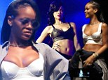 If it ain't broke! Rihanna takes to stage in a white crop top as she performs second date of 777 tour... following leak of Chris Brown duet Nobody's Business