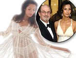 Sheer delight! Padma Lakshmi poses for Playboy in lace underwear... and reveals ex husband Salman Rushdie 'was a great wit and flirt'