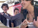 Flash and a feel: Harry Styles showed off his new tattoo and got felt up by a fan on The Ellen DeGeneres Show on Thursday