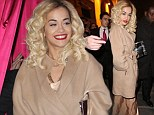 Rita Ora tones things down as she goes for head-to-toe nude look as she travels around Paris