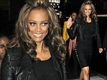 Tyra Banks showed off her impressive figure during a trip out in New York on Thursday