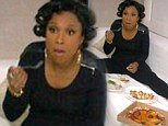 Weight watcher NOT! Jennifer Hudson posted a picture on Twitter showing her pigging out on pizza