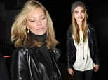 Double trouble: Kate Moss and Cara Delvigne partied together for the second night in a row