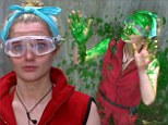 Dirty job: Helen Flanagan got gunged as part of her seventh Bushtucker Trial