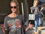 Retail therapy: Model Erin Heatherton is seen after shopping at Barneys New York in Beverly Hills on Saturday