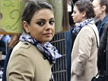 Mila Kunis goes it alone on shopping trip in romantic Rome without boyfriend Ashton Kutcher by her side