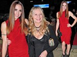 Good genes run in the family: Melanie C shows off her youthful-looking mother Joan at Liverpool Music Awards