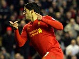 At the double: Suarez scored two goals in Liverpool's win over Wigan