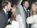 David Mitchell marries Victoria Coren in a lavish ceremony ... and Peep Show co-star Robert Webb is his best man