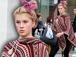 Pretty in pink! Ireland Baldwin embraces the new dip-dying trend and sports a fuchsia-tipped hue on her blonde locks