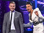 'Definitely weren't you, I'm far too skinny': Rylan Clark leaves judges and the audience flabbergasted by poking fun at Gary Barlow's Take That weight on the X Factor
