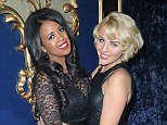 Girls night: TOWIE stars Lydia Bright and Danni Park-Dempsey have a night out in London on Saturday