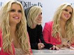 Sister act! Showing off her post-baby weight loss Jessica Simpson joins forces with sibling Ashlee to spruik clothing line