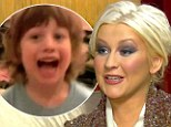 Happy family: Christina Aguilera dotes on her son Max