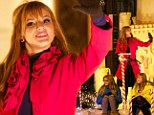 Disney star Bella Thorne lights up the Chicago night for Christmas... and it isn't even December yet