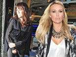 Alex Curran, the wife of Liverpool FC captain Steven Gerrard, on a WAG's night out in Liverpool at the San Carlo restaurant with Sheree Murphy, the wife of former Liverpool player Harry Kewell