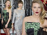 What a thriller! Leading ladies Scarlett Johansson and Jessica Biel showcase dramatic looks for Hitchcock premiere