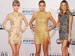 Hot metal! Taylor Swift, Heidi Klum and Stacy Keibler lead the metallics brigade on American Music Awards red carpet
